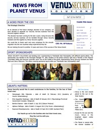 online magazine - Venus News Oct 2012