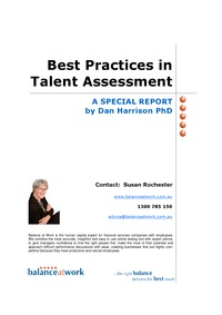 online magazine - Report: Best Practices in Talent Assessment