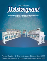 online magazine - Meistergram Embroidery Machine Catalog- Spanish