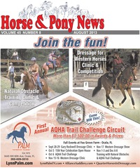 online magazine - Horse and Pony News August 2013