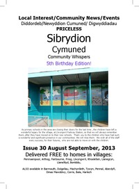 online magazine - Sibrydion Cymuned August/September 2013