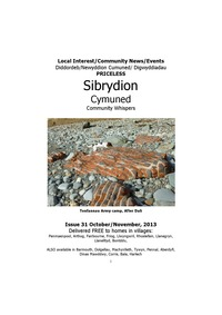 online magazine - Sibrydion Cymuned October/ November 2013