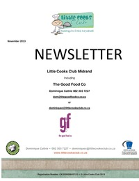 online magazine - Little Cooks Club November 2013 Newsletter