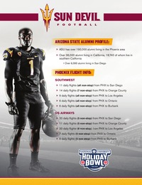 online magazine - 2013 Sun Devil Football Holiday Bowl Package