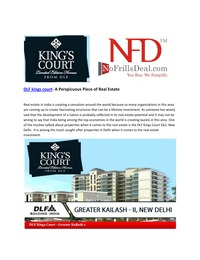 online magazine - DLF kings court- A Perspicuous Piece of Real Estate