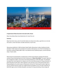 online magazine - A Superb Goal of Wave City Centre Irenia Start with a Dream