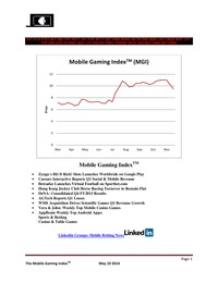 online magazine - Mobile Gaming Index-May 19 (CZR,CIE, SBT, HKJC, WMS, 2432.JP)
