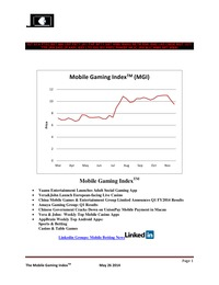 online magazine - Mobile Gaming Index-May 26 (CMGE, IGT, BSYB, AYA, VeraJohn )