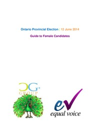 online magazine - A Guide to  Female Candidates for the Ontario Provincial Election