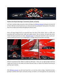 online magazine - Paintless Dent Repair Advantages- Convenience, Quality, and Savin