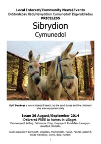 online magazine - Sibrydion Cymuned August September 2014 issue