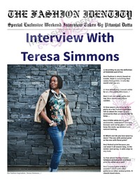 online magazine - THE FASHION IDENTITY Interview With Teresa Simmons By Pitanjal