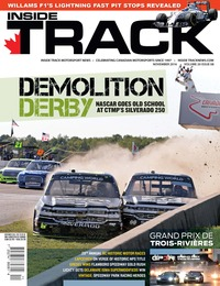 online magazine - Inside Track Motorsport News • Vol 20, Iss 08 • Nov. 2016
