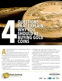 online magazine - 2016 Gold Research Report from Park Avenue