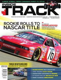 online magazine - Inside Track Motorsport News • Vol. 20, Iss. 09 • Dec. 2016