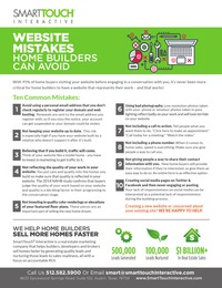 online magazine - 10 Website Mistakes Home Builders Can Avoid