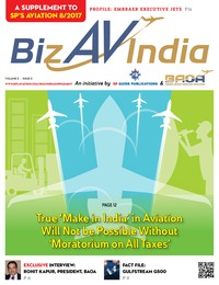 online magazine - BizAvIndia 3 - 2017 - A Supplement to SP's Aviation 8/2017