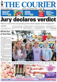 online magazine - The Courier and Wee Waa News, September 19, 2017