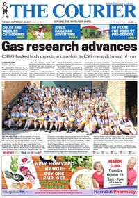 online magazine - The Courier and Wee Waa News, September 26, 2017