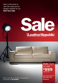 online magazine - Bay Leather Republic Half Year Sale Catalogue