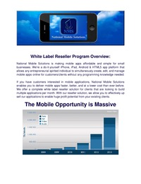 online magazine - Mobile Business Opportunity - WorldWide Territories  Available