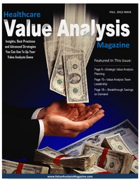 online magazine - Healthcare Value Analysis Magazine | Fall 2012 Issue|