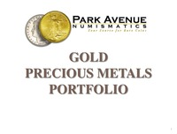 online magazine - Park Avenue Numismatics-Gold Presentation-Anthony Lombardo