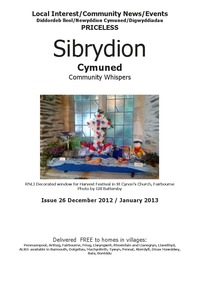 online magazine - Sibrydion Cymuned, December 2012 January 2013
