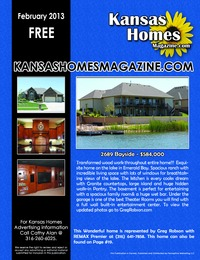 online magazine - Kansas Homes Magazine February 2013 Issue