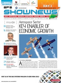 online magazine - SP's Show News to Aero India 2013- Day 1