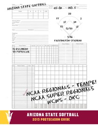 online magazine - 2013 Arizona State Softball Postseason Guide