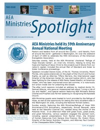 online magazine - Spotlight - AEA Ministries - June 2013
