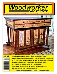 online magazine - Woodworker West - September-October, 2013