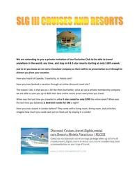 online magazine - SLG Cruises and Resorts 2013