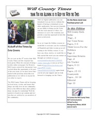 online magazine - Will County Times Dec 9th