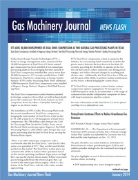 online magazine - Gas Machinery Journal January News Flash