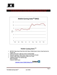 online magazine - Mobile Gaming Index:June 2 (IGT, BPTY, BSYB, WMS, SGMS, 1371.HK)