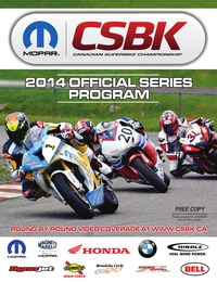 online magazine - 2014 CSBK Program