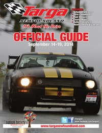 online magazine - Targa Newfoundland 2014 Official Program