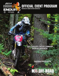online magazine - 2014 Corduroy Enduro Program