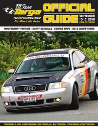 online magazine - Targa Newfoundland - Official Program 2016