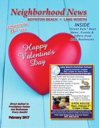 online magazine - Neighborhood News, Lake Worth/Boynton- February 2017 Issue