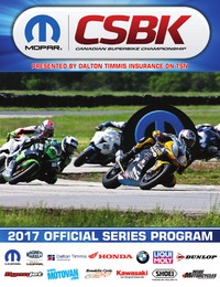 online magazine - 2017 Mopar Canadian Superbike Championship - Official Program