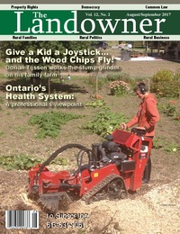 online magazine - The Landowner Magazine - Aug. / Sept. 2017 Volume 12 Number 2