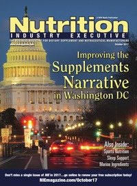 online magazine - Nutrition Industry Executive October 2017
