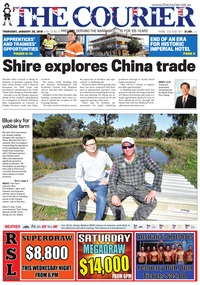 online magazine - The Courier, January 25, 2018