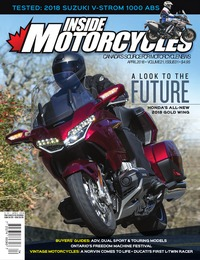 online magazine - Inside Motorcycles • Vol. 21, Iss. 01 • April 2018
