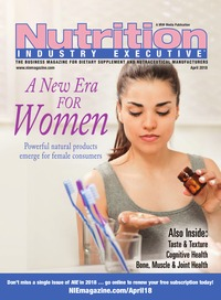 online magazine - Nutrition Industry Executive April 2018