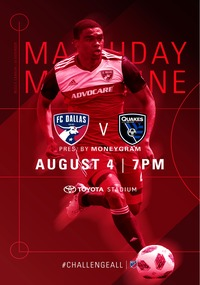 online magazine - Gameday Magazine vs. San Jose Earthquakes