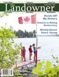 online magazine - The Landowner Magazine - Aug. / Sept. 2018 Volume 13 Number 2